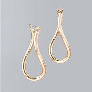 WHBM twisted oval hoop earring